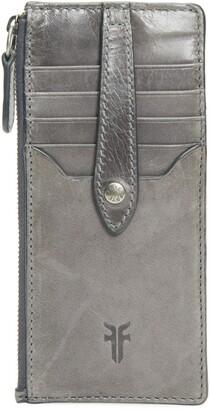 Frye Slim Leather Snap Card Wallet