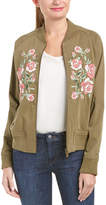 Anine Bing Embroidered Bomber Jacket