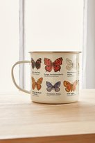 Urban Outfitters Enamelware Butterfly Mug