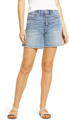 Jag Jeans Cecilia Exposed Button High Waist Cutoff Denim Shorts