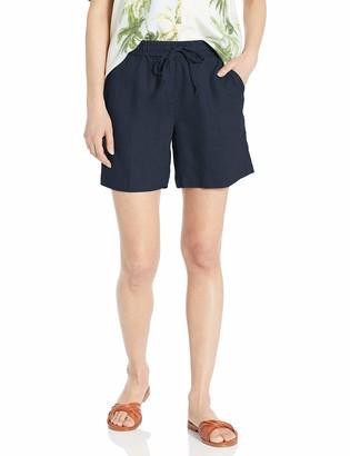 "28 Palms Women's 6"" Inseam Linen Short with Drawstring"