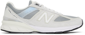 New Balance Grey Made In US M990v5 Sneakers