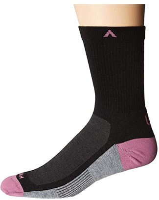 Wigwam Paradox (Black) Crew Cut Socks Shoes