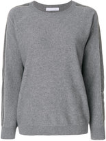 Fabiana Filippi striped sleeve jumper - women - Silk/Cotton/Cashmere/Merino - 44