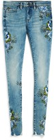 Blank NYC Blanknyc Girls' Floral Embroidered Skinny Jeans