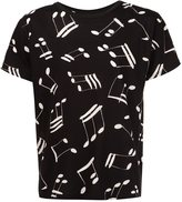 Saint Laurent musical note printed T-shirt