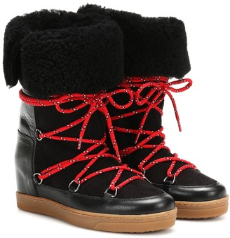 Isabel Marant Nowly shearling ankle boots