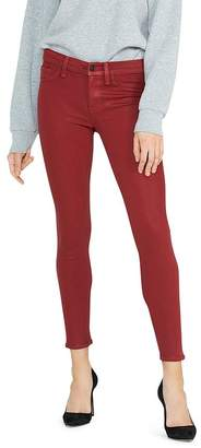 Hudson Nico Mid-Rise Ankle Skinny Jeans in Oxblood Wax
