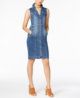 INC International Concepts Petite Denim Shirtdress, Created for Macy's