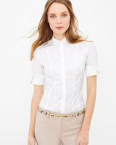 White House Black Market Elbow Sleeve Poplin Shirt