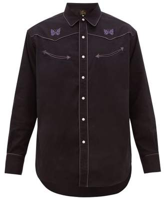 Needles Embroidered Western Shirt - Mens - Black