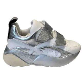 Stella McCartney Stella Mc Cartney Eclypse Silver Leather Trainers