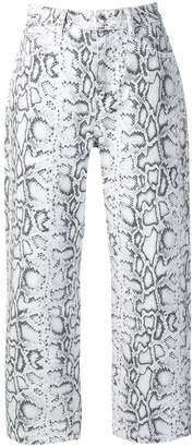 Alexander Wang python-print jeans