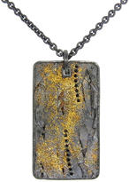 Todd Reed Black Diamonds Oxidized Sterling Silver Tablet Necklace - Yellow Gold