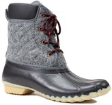 Western Chief Charcoal Quilted Four Eye Duck Boot - Women