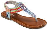 Cherokee Girls' Beaded Thong Sandals Assorted Colors