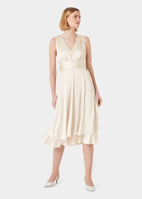 Hobbs Viola V Neck Dress