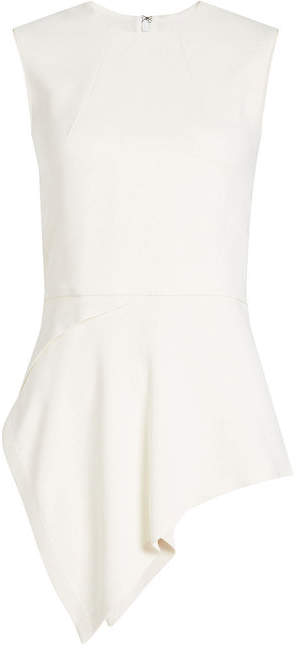 Victoria Beckham Sleeveless Top with Asymmetric Hem