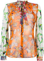 Tory Burch multi-print shirt