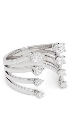 Delfina Delettrez 18kt white gold diamond Dots ring