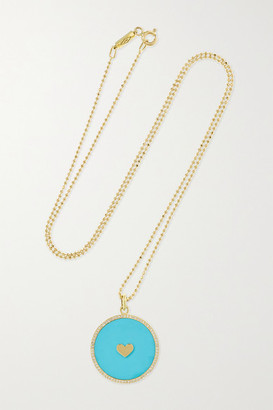 Jennifer Meyer 18-karat Gold, Turquoise And Diamond Necklace