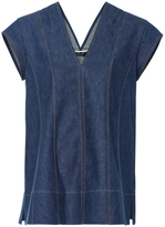 Derek Lam Short Sleeve Denim Tunic