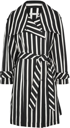 Alice + Olivia Brenton striped shell trench coat