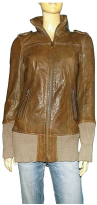 Mackage Brown Leather Jacket for Women