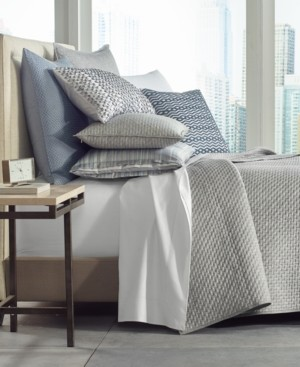 Hotel Collection Diamond Stripe Quilted King Coverlet, Created for Macy's Bedding