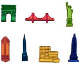 Design Ideas NYC Landmark Magnets (Set of 7)