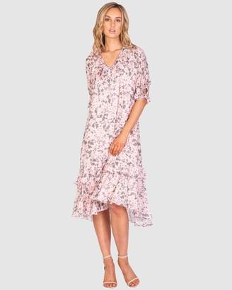 Three of Something Boardwalk Floral Malibu Dress