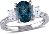 MODERN BRIDE Womens Blue Topaz 14K Gold Engagement Ring