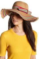 Betsey Johnson Rainbow Raw Edge Floppy Hat