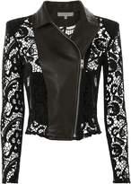 IRO Lace Moto Leather Jacket