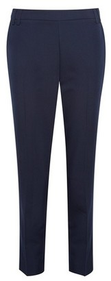 Dorothy Perkins Womens Dp Petite Navy Ankle Grazer Trousers