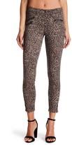 Jolt Leopard Print Ponte Stretch Knit Pants