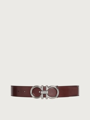 Salvatore Ferragamo Men Reversible and adjustable Gancini belt Red