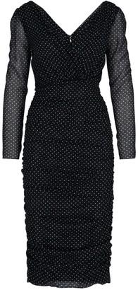 Dolce & Gabbana Micro Polka-dot Long Dress