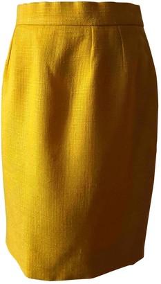 Christian Dior Yellow Viscose Skirts