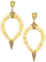 Etho Maria Misty 18K Yellow, Opal & Brown Diamond Beaded Teardrop Earrings