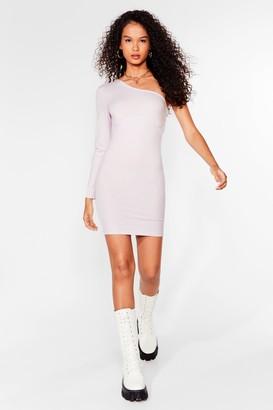 Nasty Gal Womens Seams Like Fun One Shoulder Mini Dress - Black - 4, Black