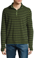 Robert Graham Callum Striped Polo Zip Top