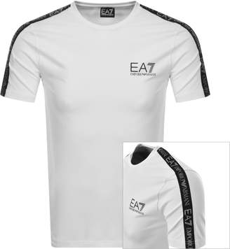 Emporio Armani Ea7 EA7 Taped Logo T Shirt White