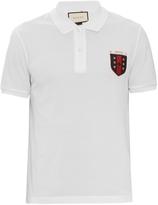 Gucci Logo-embroidered polo shirt