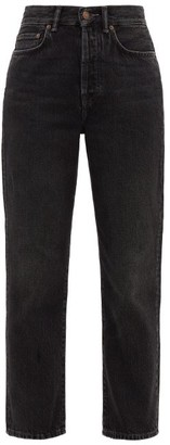 Acne Studios Mece Straight-leg Cotton Jeans - Dark Grey