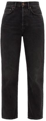 Acne Studios Mece Straight-leg Cotton Jeans - Womens - Dark Grey