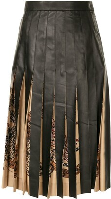 Salvatore Ferragamo Rope Print Detail Pleated Skirt