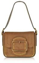 Tory Burch Women's Brown Suede Shoulder Bag.