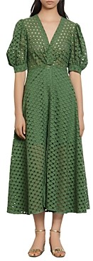Sandro Sheraze Lace Midi Dress