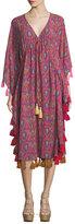 Figue Amrita Tassel-Trimmed Caftan Dress
